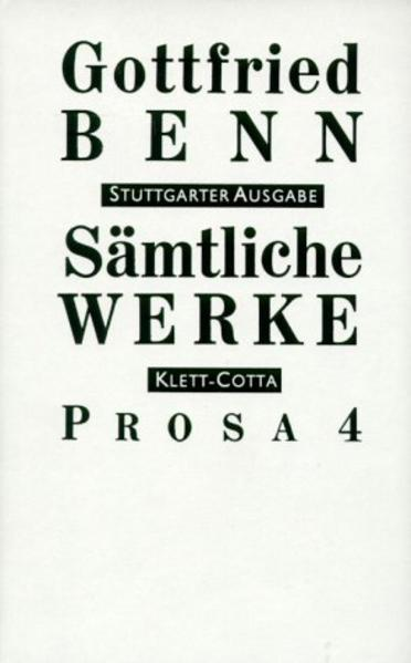 Prosa 4 (1951 - 1956) als Buch