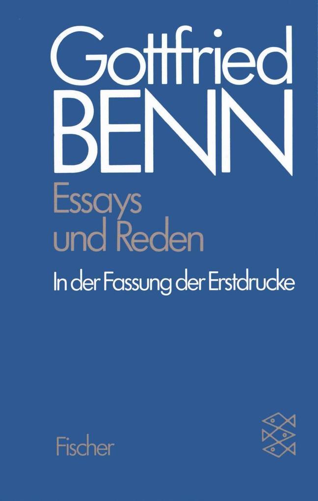 Werkausgabe III. Essays und Reden in der Fassung der Erstdrucke als Taschenbuch