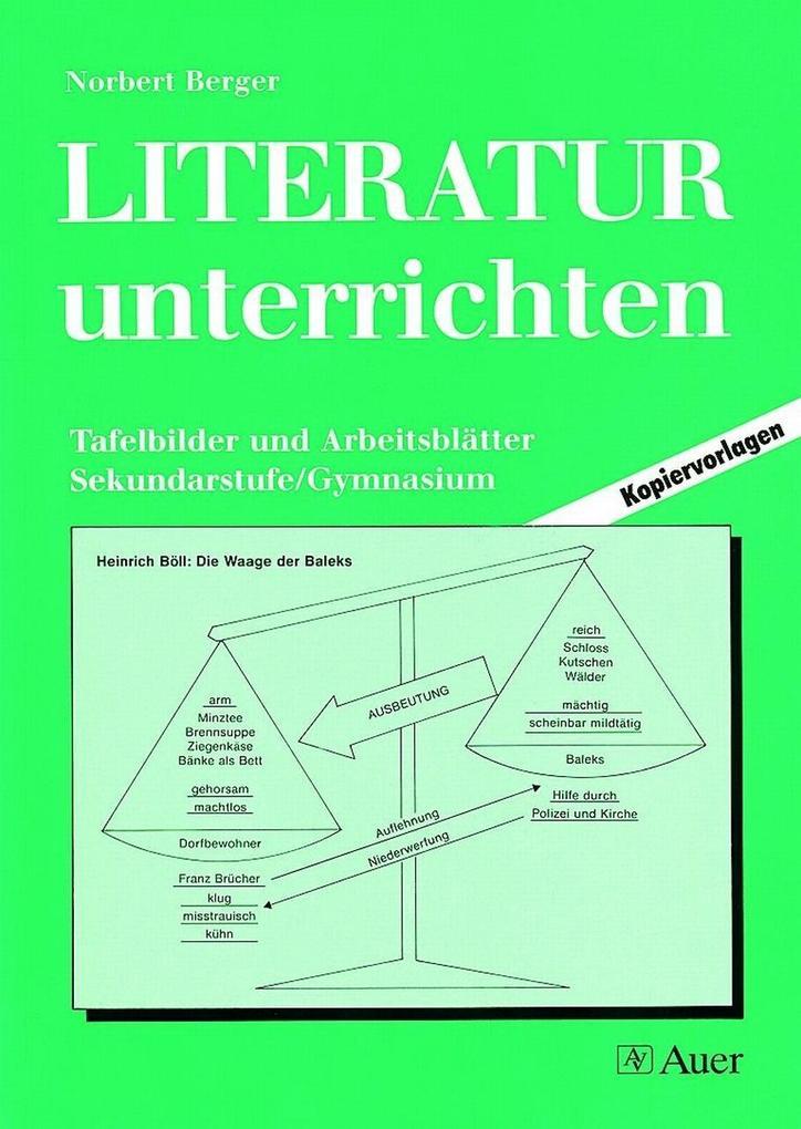 Literatur unterrichten Gymn. 5.-13. Klasse als Buch