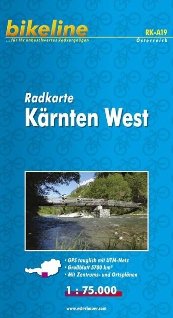 Bikeline Radkarte Österreich Kärnten West 1 : 75 000 als Buch