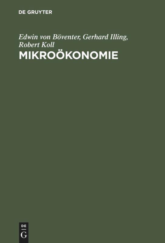Mikroökonomie als Buch