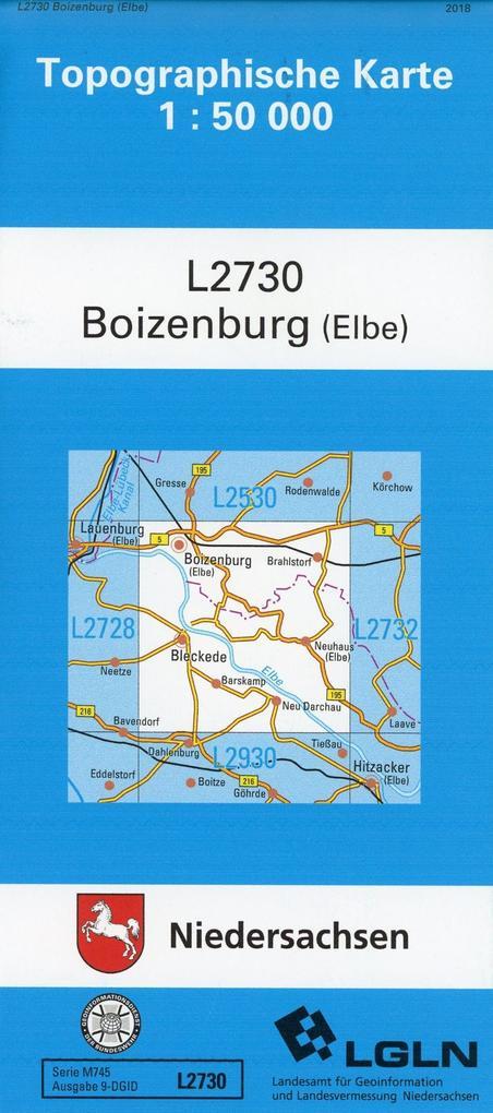 Boizenburg (Elbe) 1 : 50 000. (TK 2730/L) als Buch