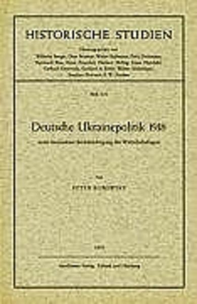 Deutsche Ukrainepolitik 1918 als Buch