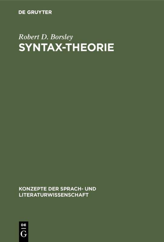 Syntax-Theorie als Buch