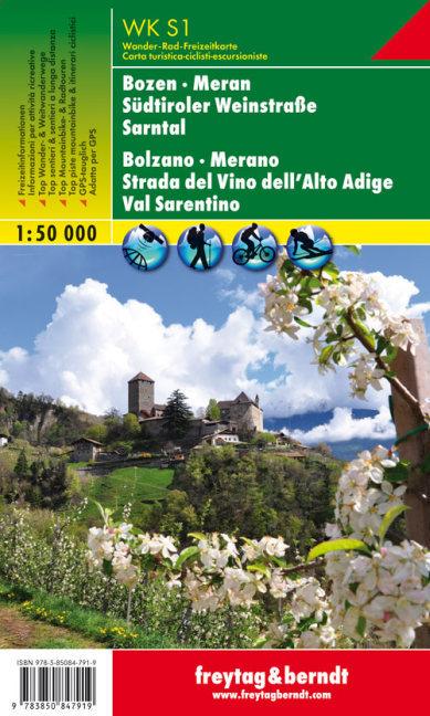 Bozen, Meran, Südtiroler Weinstraße, Sarntal 1 : 50 000 als Buch