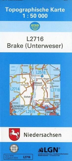 Brake (Unterweser) 1 : 50 000. (TK 2716/N) als Buch