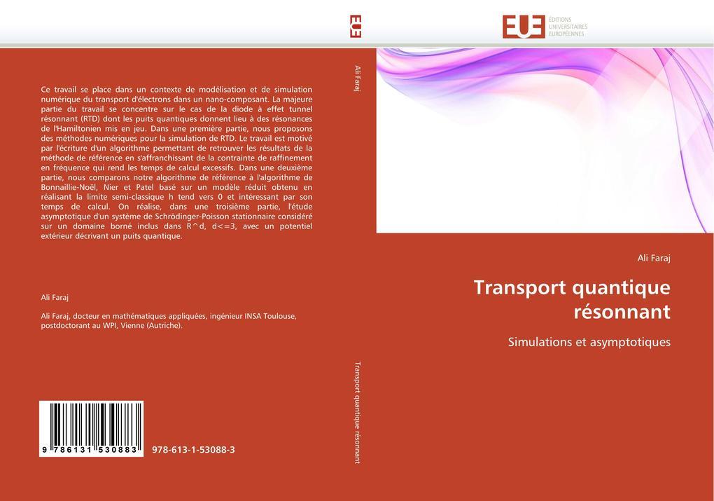 Transport quantique résonnant als Buch von Ali Faraj - Editions universitaires europeennes EUE