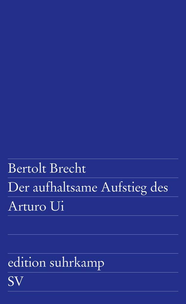 Der aufhaltsame Aufstieg des Arturo Ui als Taschenbuch