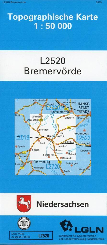 Bremervörde 1 : 50 000 (TK L2520/N) als Buch