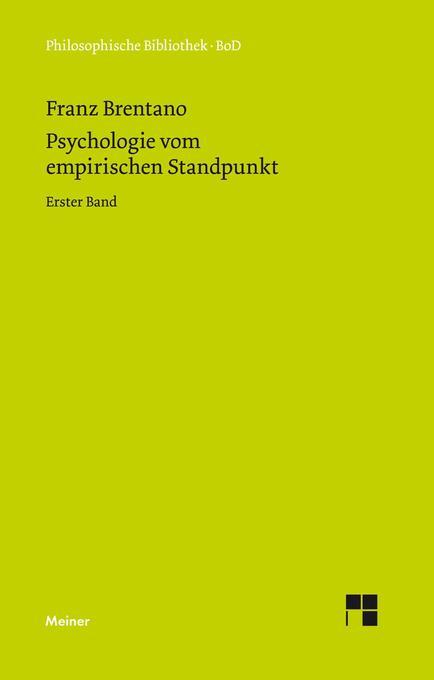 Psychologie vom empirischen Standpunkt als Buch