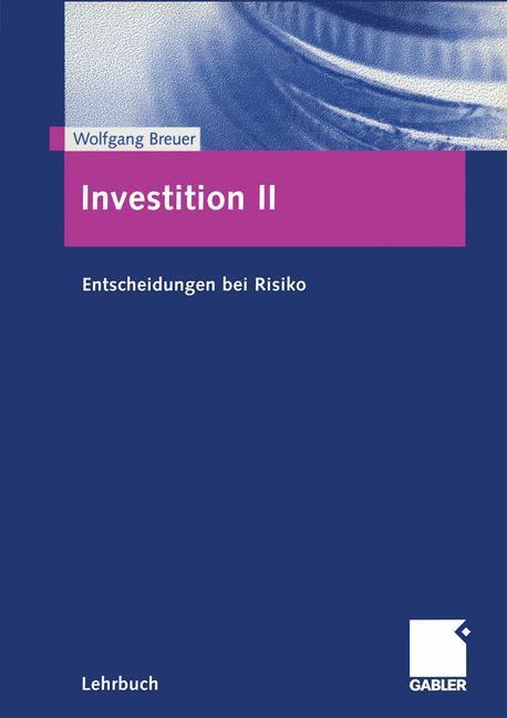 Investition 2 als Buch