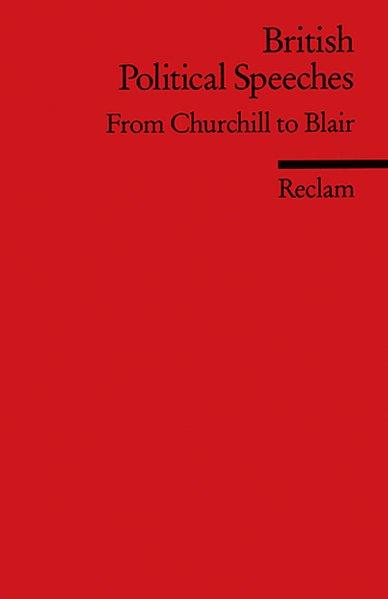 British Political Speeches als Taschenbuch