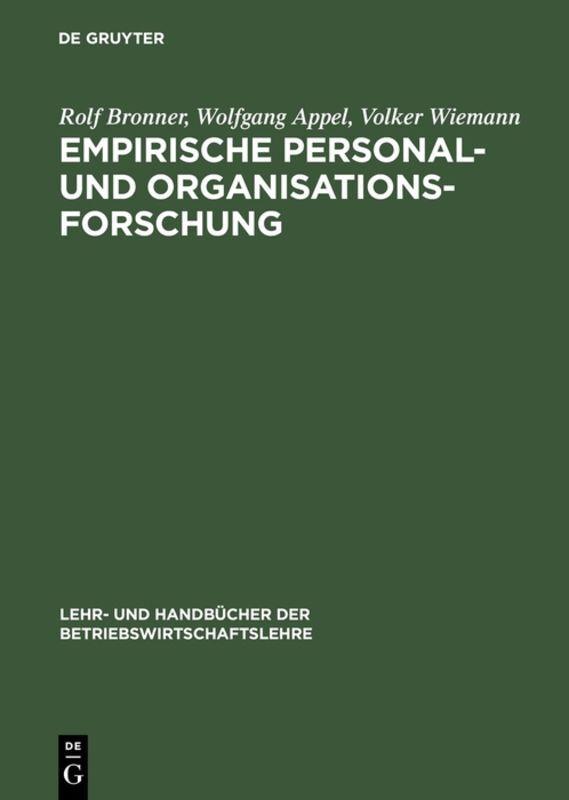 Empirische Personal- und Organisationsforschung als Buch