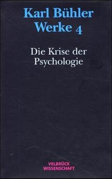 Die Krise der Psychologie (1927) als Buch