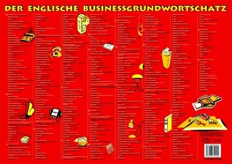 Schreibtischunterlage, DIN A2-Querformat. Der Englische Businessgrundwortschatz. (rot) als Buch