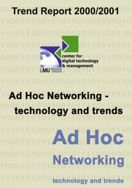 CDTM Trend Report 2000/2001 Ad Hoc Networking als Buch