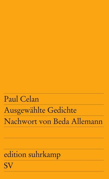 Ausgewählte Gedichte als Taschenbuch