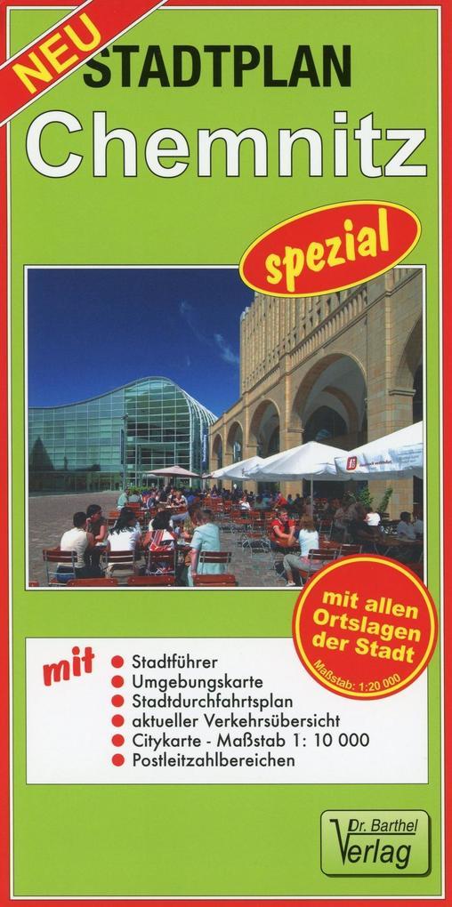 Stadtplan Chemnitz spezial 1 : 20 000 als Buch