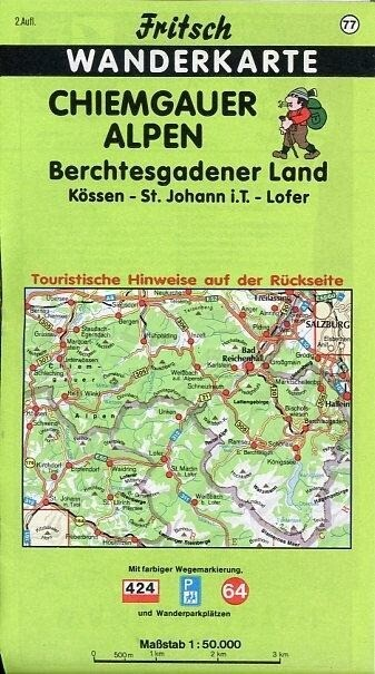 Chiemgauer Alpen. Berchtesgadener Land 1 : 50 000. Fritsch Wanderkarte als Buch