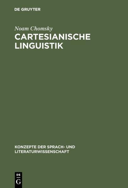 Cartesianische Linguistik als Buch