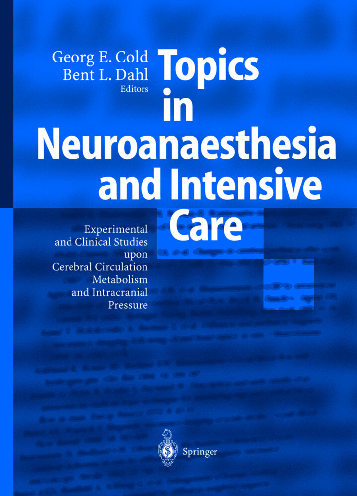 Topics in Neuroanaesthesia and Neurointensive Care als Buch