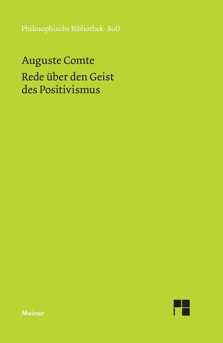 Rede über den Geist des Positivismus als Buch