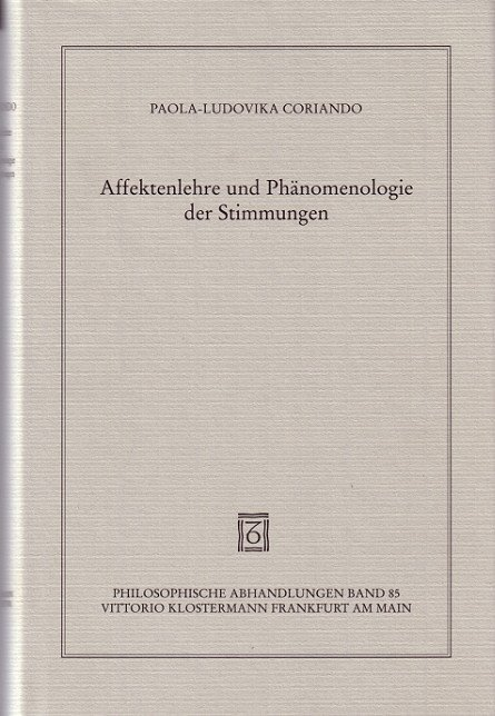 Affektenlehre und Phänomenologie der Stimmungen als Buch