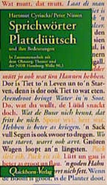 Sprichwörter Plattdüütsch und ihre Bedeutungen als Buch