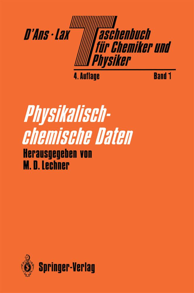 Physikalisch-chemische Daten als Buch