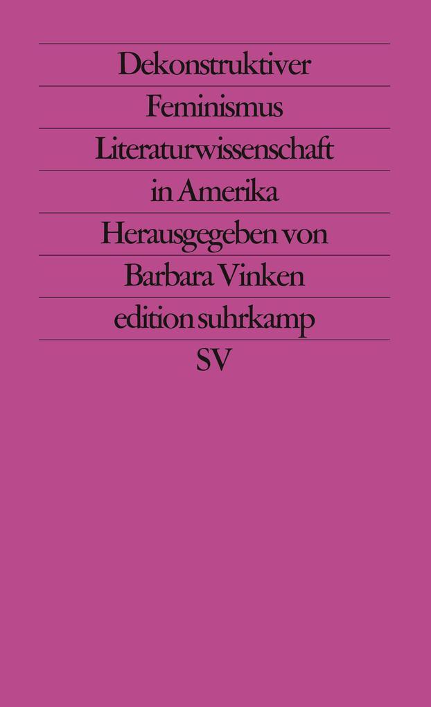 Dekonstruktiver Feminismus als Taschenbuch