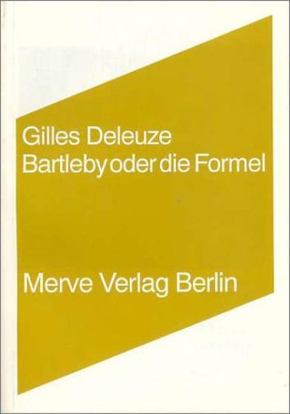Bartleby oder die Formel als Buch