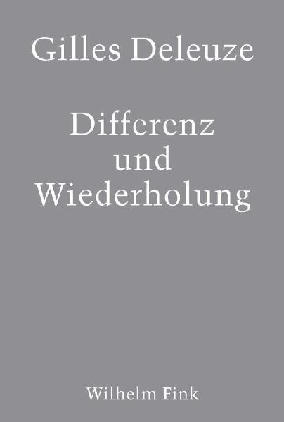 Differenz und Wiederholung als Buch