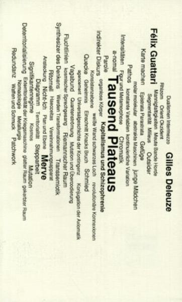 Tausend Plateaus. Kapitalismus und Schizophrenie als Buch