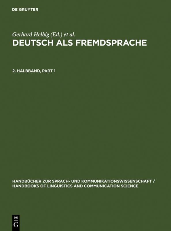 Deutsch als Fremdsprache. 2. Halbband als Buch