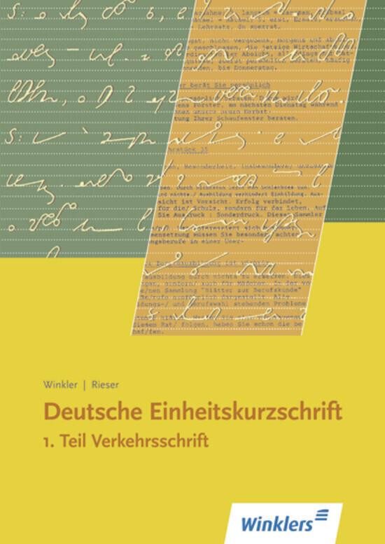 Deutsche Einheitskurzschrift 1. Verkehrsschrift als Buch