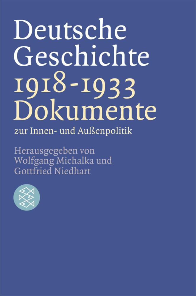 Deutsche Geschichte 1918 - 1933 als Taschenbuch
