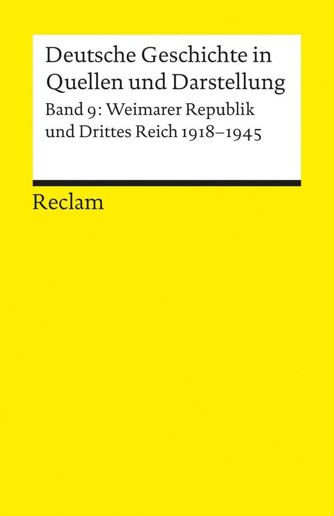 Deutsche Geschichte 9 in Quellen und Darstellung als Taschenbuch