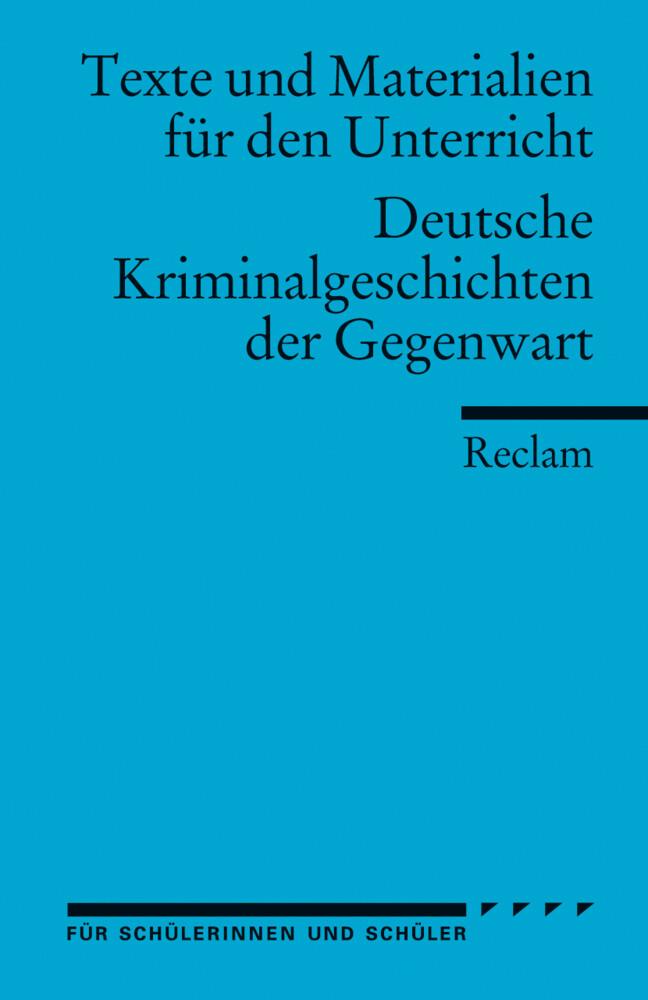 Deutsche Kriminalgeschichten der Gegenwart als Taschenbuch