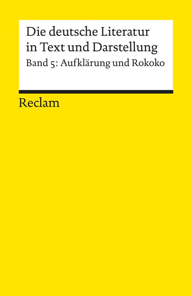 Die deutsche Literatur 5 / Aufklärung und Rokoko als Taschenbuch