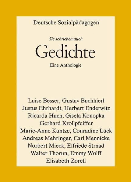 Deutsche Sozialpädagogen - Sie schrieben auch Gedichte als Buch