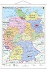 Deutschland, politisch 1 : 1 000 000. Wandkarte Kleinformat mit Metallstäben