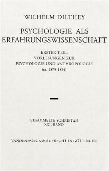 Psychologie als Erfahrungswissenschaft als Buch