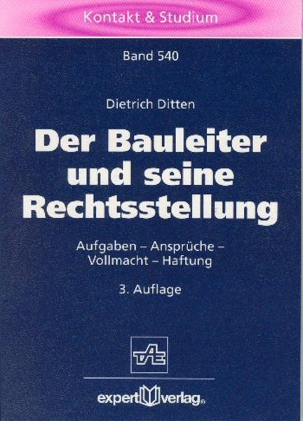 Der Bauleiter und seine Rechtsstellung als Buch