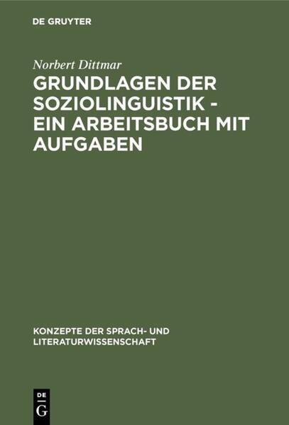 Grundlagen der Soziolinguistik als Buch