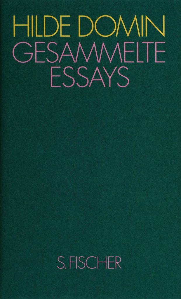 Gesammelte Essays als Buch