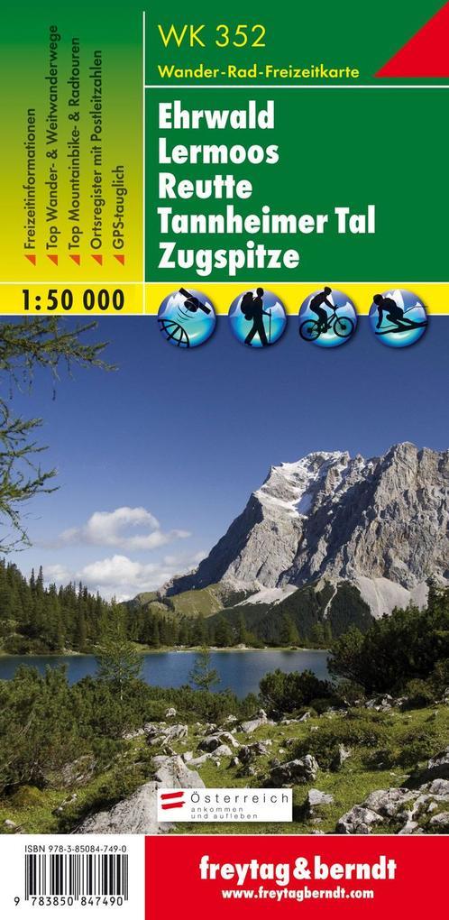 Ehrwald - Lermoos - Reutte - Tannheimer Tal - Zugspitze, Wanderkarte 1:50 000 als Buch