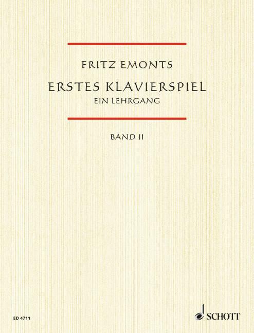 Erstes Klavierspiel II als Buch
