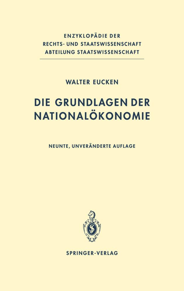 Die Grundlagen der Nationalökonomie als Buch