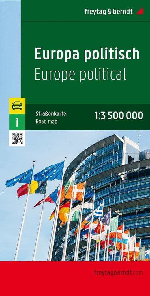 Europa politisch 1 : 3 500 000. Autokarte als Buch