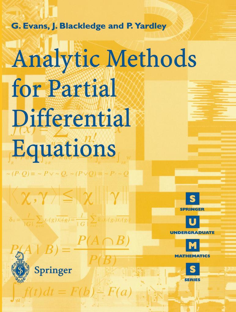 Analytic Methods for Partial Differential Equations als Buch